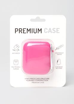 neon fuchsia wireless earbud case - Main Image
