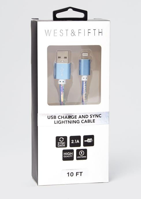 IRRIDESCENT BLUE 10FT USB placeholder image