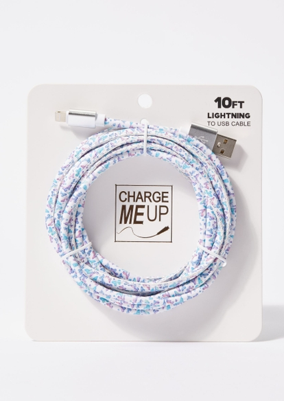 10-foot butterfly print lightning to usb cable - Main Image