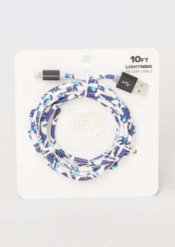 10-foot white butterfly lightning to usb cable - Main Image