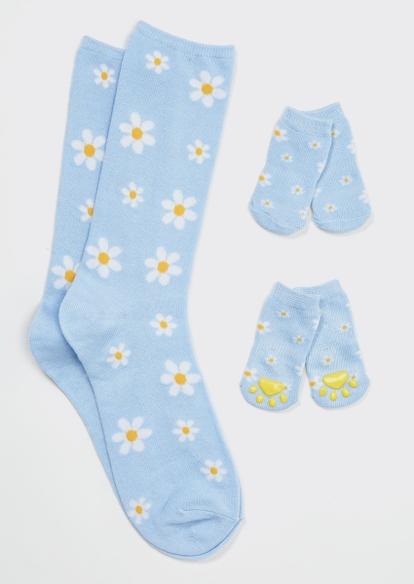 daisy print matching pet sock set - Main Image