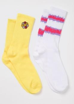 2-pack smiley crew socks - Main Image