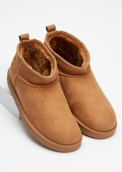 tan mini cozy boots - Main Image