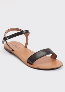 black ankle strap sandals - Main Image