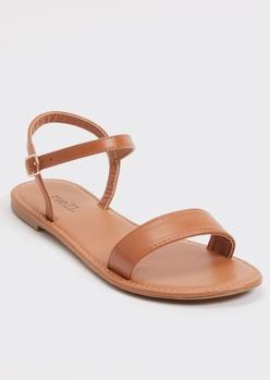 cognac ankle strap sandals - Main Image
