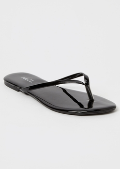 black flip flops - Main Image