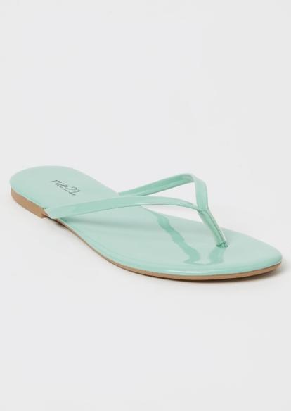 mint flip flops - Main Image