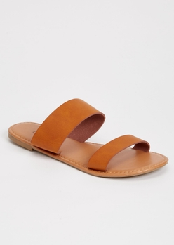 camel double strap sandals - Main Image