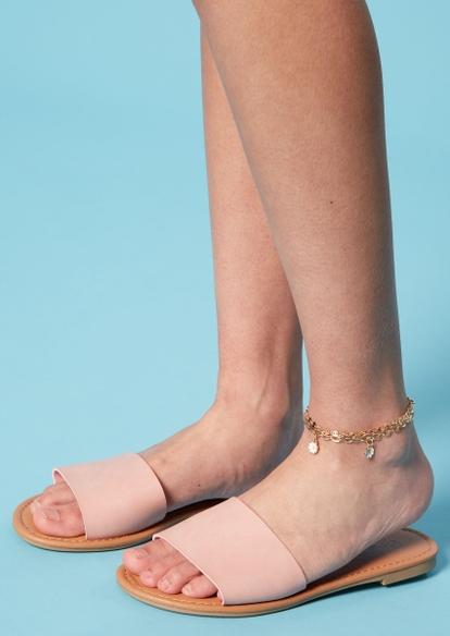 pink single strap sandals - Main Image