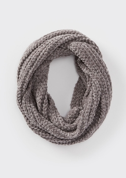 charcoal chenille infinity scarf - Main Image