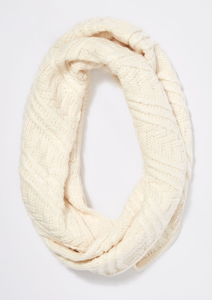 ivory cable knit infinity scarf - Main Image