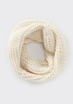 oatmeal heather soft knit infinity scarf - Main Image