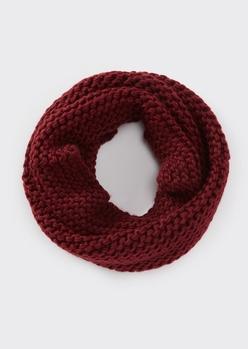 burgundy soft knit infinity scarf - Main Image