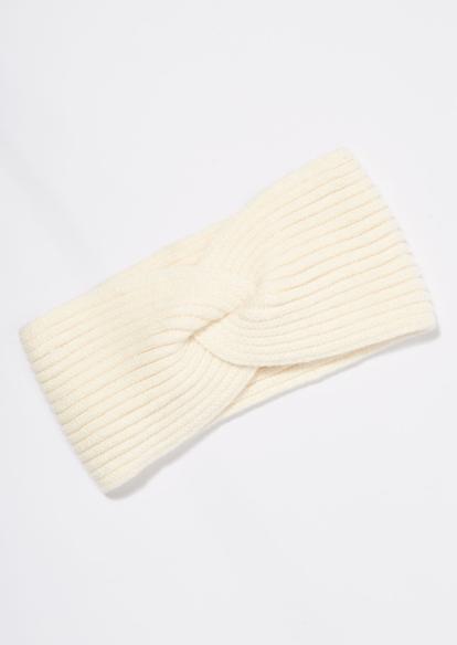ivory cable knit braided headband - Main Image