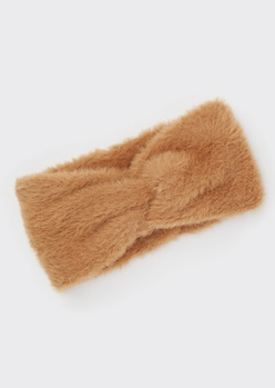 brown fuzzy headwrap - Main Image