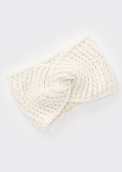 ivory chenille twist headwrap - Main Image
