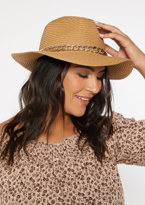 GOLD CHAIN STRAW HAT placeholder image