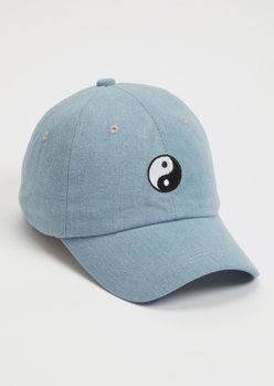 chambray yin yang embroidered dad hat - Main Image