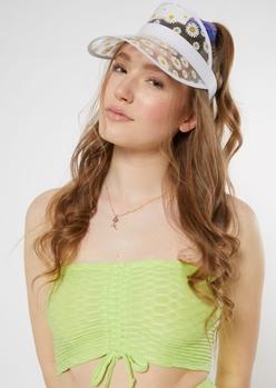 clear daisy print visor - Main Image