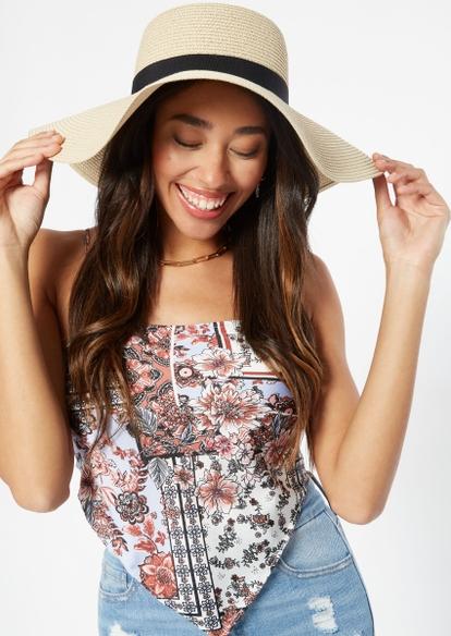 sand wide brim straw hat - Main Image