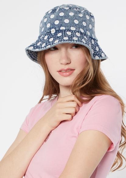 daisy embroidered denim bucket hat - Main Image