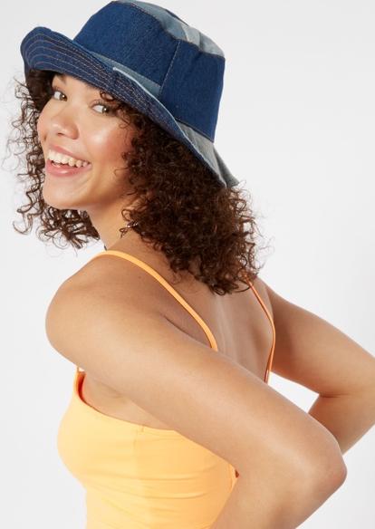 denim patch bucket hat - Main Image