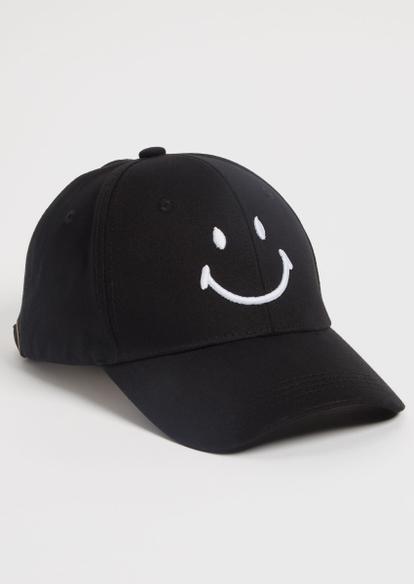 black smiley dad hat - Main Image