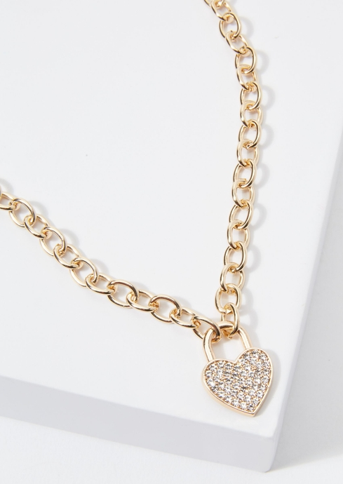 17IN PAVE HEART LOCK BYOL placeholder image