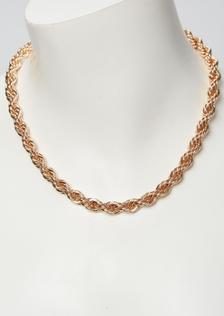 gold chunky rope chain - Main Image