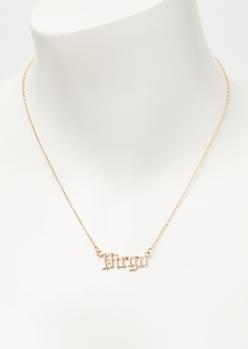 gold virgo charm necklace - Main Image