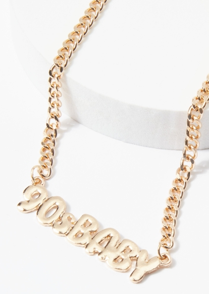 gold chunky chain '90s baby necklace - Main Image