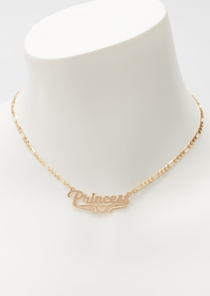 gold princess chain necklace - Main Image