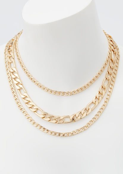 3-pack gold chain necklace set - Main Image