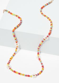 daisy rainbow bead necklace - Main Image
