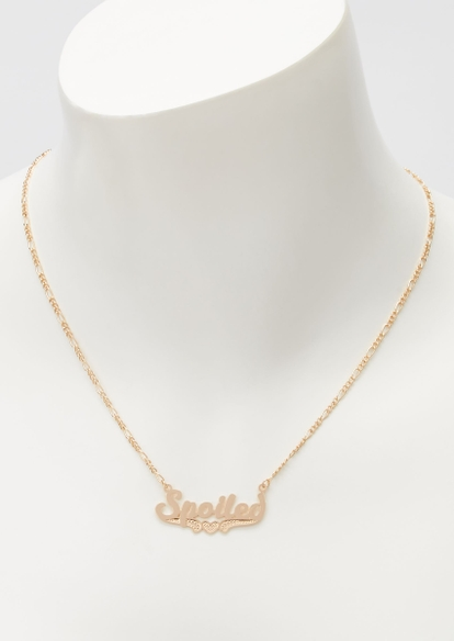gold spoiled chain necklace - Main Image