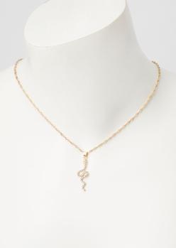 gold dainty snake necklace - Main Image