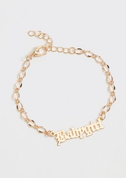 gold chain babygirl bracelet - Main Image