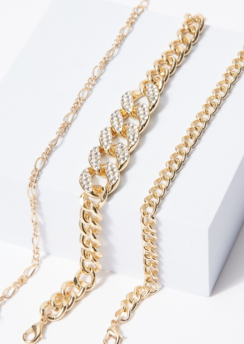 PAVE CHAIN LINK 3 PK ANKL placeholder image
