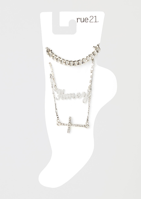 HONEY PAVE CROSS CHAIN 3 placeholder image
