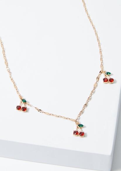 plus gold cherry rhinestone belly chain - Main Image