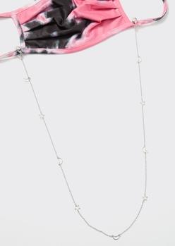 silver celestial cutout sunglasses and mask chain - Main Image