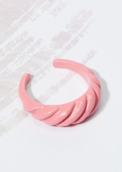 pink croissant twist ring - Main Image