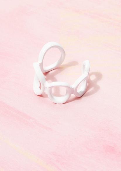 blue acrylic chain ring - Main Image