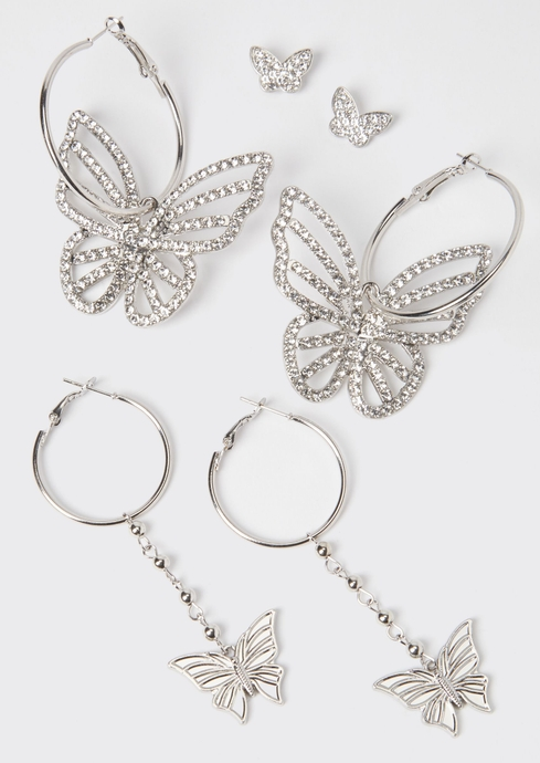 BUTTERFLY STUD HOOP 3 ON placeholder image