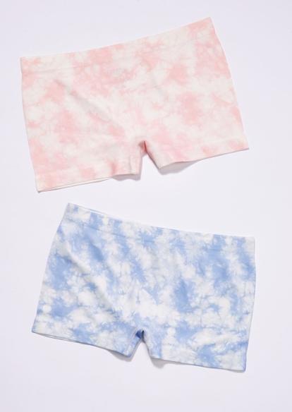 2-pack pastel tie dye seamless boy leg undies set - Main Image