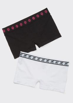 2-pack cherry kiss boyshort undies - Main Image