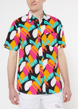 black toucan bird print shirt - Main Image