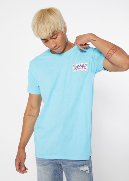 blue rugrats logo embroidered tee - Main Image