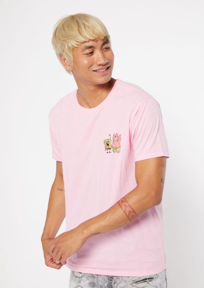 light pink spongebob patrick embroidered tee - Main Image