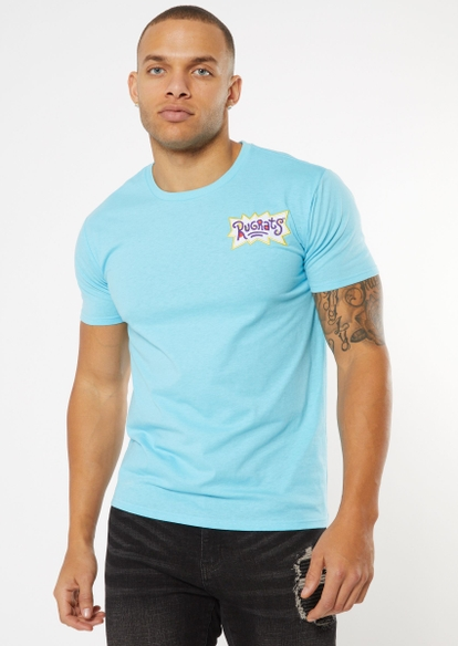 light blue rugrats logo embroidered tee - Main Image